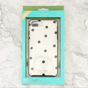 KATE SPADE Polka Dot iPhone Case 7+/6s/6 NWT